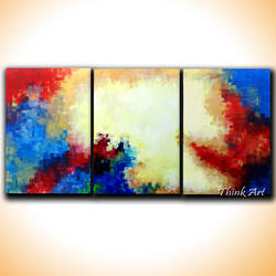 colours abstract, 35 x 18 inch, sakshi agarwal,abstract paintings,paintings for living room,multi piece paintings,paintings for office,horizontal,canvas,acrylic color,35x18inch,GAL06712387