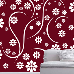 wall stencil: beautiful custom design wall stencil , 11 pieces of stencil (size 12x24 inches) | reusable | diy, 12 x 24 inch, wall stencil designs,12x24inch,ohp plastic sheets,flower designs,plastic,GAL0123872,ASB-30