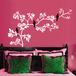 wall stencil: custom bird design wall stencil , 2 stencil (size 12x12,6x6 inches) | reusable | diy, 56 x 33 inch, wall stencil designs,56x33inch,ohp plastic sheets,flower designs,plastic,GAL0123875,ASB-66
