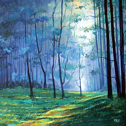 morning, 14 x 18 inch, raji p,14x18inch,canvas,paintings,wildlife paintings,landscape paintings,nature paintings,paintings for dining room,paintings for living room,paintings for bedroom,paintings for office,paintings for kids room,paintings for hotel,paintings for school,paintings for hospital,acrylic color,GAL059023886,forest,peace,trees