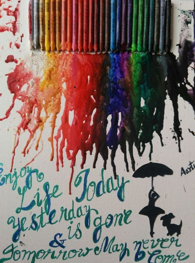Crayons painting