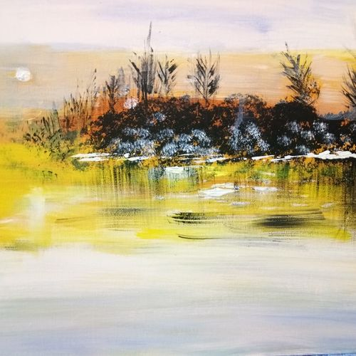 yellow spring, 20 x 16 inch, v s gaurav narayan,20x16inch,canvas board,paintings,flower paintings,landscape paintings,nature paintings,paintings for dining room,paintings for living room,paintings for bedroom,paintings for office,paintings for bathroom,paintings for kids room,paintings for hotel,paintings for kitchen,paintings for school,paintings for hospital,acrylic color,GAL01045423908