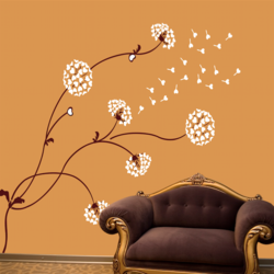 wall stencil: cotton flower design wall stencil , 11 pieces stencil (size 86x72 inches) | reusable | diy, 86 x 72 inch, wall stencil designs,86x72inch,ohp plastic sheets,flower designs,plastic,GAL0123923,ARS-128