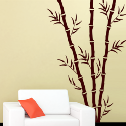 wall stencil: tree  design wall stencil , 3 pieces stencil (size 6x14, 4x9 inches) | reusable | diy, 12 x 12 inch, wall stencil designs,12x12inch,ohp plastic sheets,flower designs,plastic,GAL0123925,ASB-51