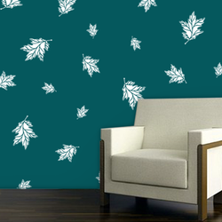 wall stencil: morden leaf design wall stencil , 3 pieces stencil (size 8x12, 6x8, 4x6 inches) | reusable | diy, 12 x 12 inch, wall stencil designs,12x12inch,ohp plastic sheets,flower designs,plastic,GAL0123926,ARS-09