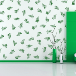 wall stencil: long leaf design wall stencil , 1 stencil (size 8x12 inches) | reusable | diy, 8 x 12 inch, wall stencil designs,8x12inch,ohp plastic sheets,flower designs,plastic,GAL0123927,ARS-10