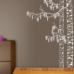 wall stencil: long tree design wall stencil , 1 stencil (size 9x inches) | reusable | diy, 12 x 12 inch, wall stencil designs,12x12inch,ohp plastic sheets,flower designs,plastic,GAL0123930,ARS-113
