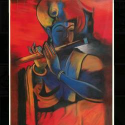 lord krishna, 18 x 25 inch, sonal  goswami,18x25inch,thick paper,paintings,pastel color,GAL01352023934