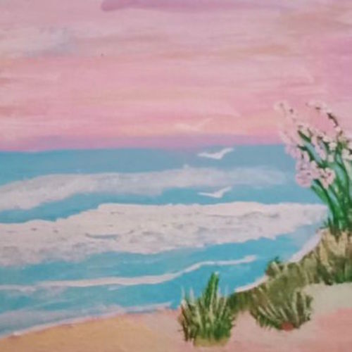 the ocean tides, 8 x 10 inch, kanchana swapna korati,8x10inch,canvas,paintings,landscape paintings,paintings for living room,acrylic color,GAL0817623936