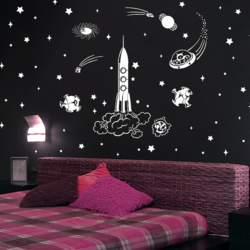 wall stencil: glossy galaxy design wall stencil for kids room  , 15 pieces stencil (size 12x20 inches) | reusable | diy, 12 x 20 inch, wall stencil designs,12x20inch,ohp plastic sheets,flower designs,plastic,GAL0123937,ARS52