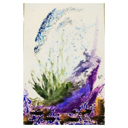 the splash, 14 x 24 inch, rashi rathore,14x24inch,canvas board,paintings,abstract paintings,paintings for dining room,paintings for living room,paintings for office,paintings for dining room,paintings for living room,paintings for office,acrylic color,mixed media,watercolor,GAL0897923939