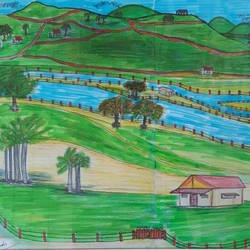 riverside paradise, 20 x 14 inch, venkat subramanian,20x14inch,canvas,drawings,expressionism drawings,realism drawings,acrylic color,GAL01378723941