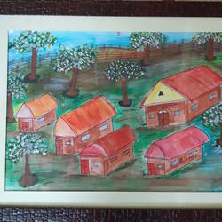 colony of peace, 20 x 14 inch, venkat subramanian,20x14inch,canvas,paintings,nature paintings,acrylic color,GAL01378723943