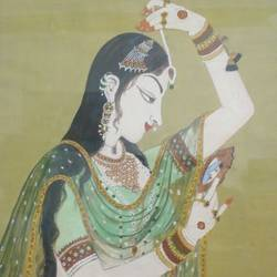 bani thani, 15 x 18 inch, rishi saini,portrait paintings,paintings for dining room,canvas,poster color,15x18inch,GAL09332395