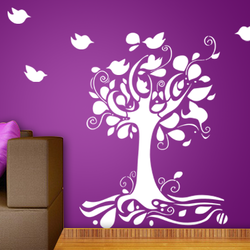 wall stencil: big tree design wall stencil , 12 pieces stencil (size 47x60 inches) | reusable | diy, 47 x 60 inch, wall stencil designs,47x60inch,ohp plastic sheets,flower designs,plastic,GAL0123963,ARS153