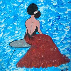back beauty of a woman, 8 x 10 inch, nikita nelson,8x10inch,canvas,paintings,figurative paintings,paintings for bedroom,acrylic color,GAL01324923967