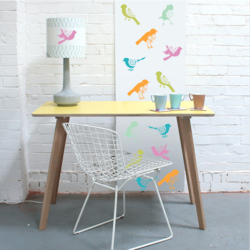 wall stencil: beautiful bird design wall stencil , 4 pieces stencil (size 9x9 inches) | reusable | diy, 9 x 9 inch, wall stencil designs,9x9inch,ohp plastic sheets,flower designs,plastic,GAL0123982,ARD112