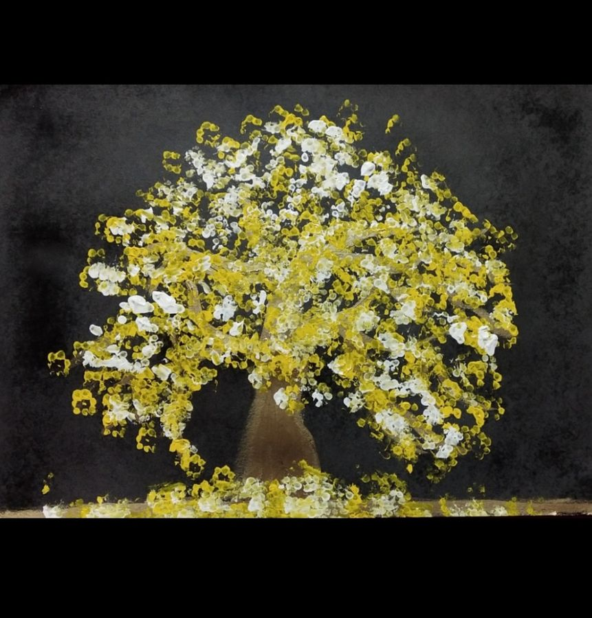 glowing tree, 16 x 12 inch, jyoti arya,16x12inch,thick paper,landscape paintings,acrylic color,GAL01380324009