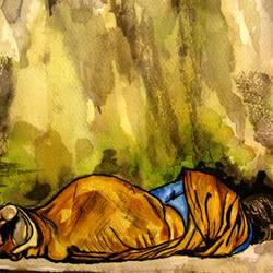 poor women, 12 x 9 inch, rajasekar r,12x9inch,fabriano sheet,paintings,figurative paintings,abstract expressionism paintings,watercolor,GAL01366124016