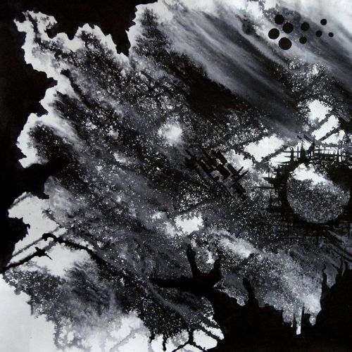 black spot, 25 x 18 inch, tamal sen sharma,25x18inch,cartridge paper,paintings,abstract paintings,paintings for dining room,paintings for living room,paintings for bedroom,paintings for office,paintings for bathroom,paintings for kids room,paintings for hotel,paintings for kitchen,paintings for school,paintings for hospital,photo ink,GAL01201324072
