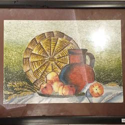 still life : framed , 12 x 9 inch, sarang mohan,12x9inch,thick paper,still life paintings,figurative drawings,oil color,pastel color,GAL01383424083