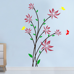 wall stencil: royal flower wall design stencil , 10 pieces  stencil (size 40x62 inches) | reusable | diy, 40 x 62 inch, wall stencil designs,40x62inch,ohp plastic sheets,flower designs,plastic,GAL0124095,ARS142
