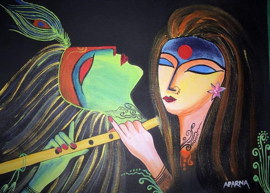 devine love i, 12 x 16 inch, aparna warade,abstract paintings,paintings for bedroom,radha krishna paintings,love paintings,canvas,acrylic color,12x16inch,GAL089241,radhakrishna,love,pece,lordkrishna,,lordradha,peace,flute,music,radha,krishna,devotion,coupleheart,family,caring,happiness,forever,happy,trust,passion,romance,sweet,kiss,love,hugs,warm,fun,kisses,joy,friendship,marriage,chocolate,husband,wife,forever,caring,couple,sweetheart