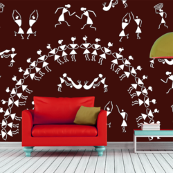 wall stencil: exclusive wall design stencil, 7 pieces stencil (size 14x18 inches) | reusable | diy, 14 x 18 inch, wall stencil designs,14x18inch,ohp plastic sheets,flower designs,plastic,GAL0124100,ARS131