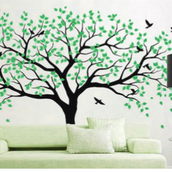wall stencil: custom tree design wall stencil , 42 pieces of stencil (size 103x74 inches) | reusable | diy, 103 x 74 inch, wall stencil designs,103x74inch,ohp plastic sheets,flower designs,plastic,GAL0124112,ARS36