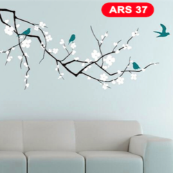 wall stencil: royal tree design wall stencil , 18 pieces of stencil (size 56x26 inches) | reusable | diy, 56 x 26 inch, wall stencil designs,56x26inch,ohp plastic sheets,flower designs,plastic,GAL0124113,ARS37