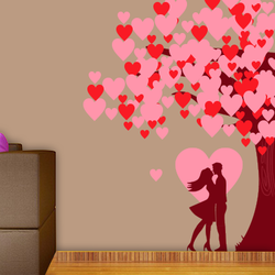 wall stencil: beautiful love couple wall design stencil , 11 pieces of stencil (size 12x24 inches) | reusable | diy, 48 x 68 inch, wall stencil designs,48x68inch,ohp plastic sheets,flower designs,plastic,GAL0124114,ARS39