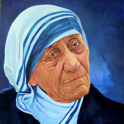 mother teresa, 36 x 48 inch, raji p,36x48inch,canvas,figurative paintings,religious paintings,portrait paintings,realism paintings,mother teresa paintings,paintings for dining room,paintings for living room,paintings for office,paintings for kids room,paintings for hotel,paintings for school,paintings for hospital,paintings for dining room,paintings for living room,paintings for office,paintings for kids room,paintings for hotel,paintings for school,paintings for hospital,acrylic color,GAL059024139