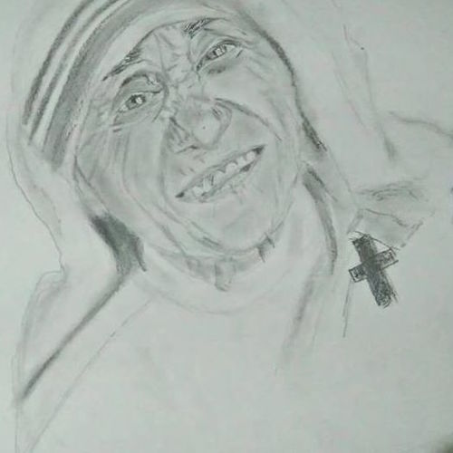 mother teresa realistic portrait, 12 x 16 inch, nandhini rt,12x16inch,canson paper,paintings for living room,paintings for office,paintings for kids room,paintings for school,paintings for hospital,portrait drawings,realism drawings,paintings for living room,paintings for office,paintings for kids room,paintings for school,paintings for hospital,graphite pencil,GAL0887924144