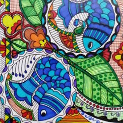 the fish, 8 x 11 inch, rayana saha,8x11inch,drawing paper,madhubani paintings,paintings for dining room,paintings for living room,paintings for hotel,paintings for school,paintings for dining room,paintings for living room,paintings for hotel,paintings for school,pen color,GAL01304624145