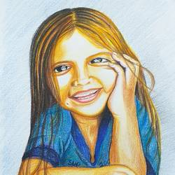 smiling baby, 17 x 12 inch, sandhya kumari,17x12inch,canson paper,paintings,portrait paintings,paintings for dining room,paintings for living room,paintings for bedroom,paintings for office,paintings for kids room,paintings for hotel,paintings for kitchen,paintings for school,paintings for hospital,pencil color,GAL0365924147