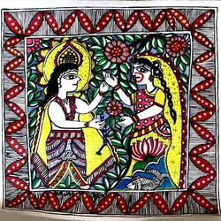 folk-a-holic madhubani painting , 12 x 12 inch, srishty chandra,12x12inch,canvas,paintings,madhubani paintings,paintings for dining room,paintings for living room,paintings for bedroom,paintings for hotel,fabric,GAL01339624174