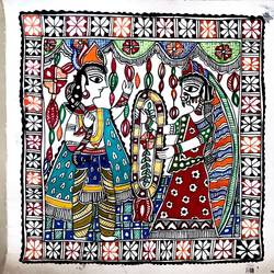 folk-a-holic madhubani painting , 12 x 12 inch, srishty chandra,12x12inch,canvas,paintings,madhubani paintings,paintings for dining room,paintings for living room,paintings for bedroom,paintings for office,paintings for bathroom,paintings for kids room,paintings for hotel,paintings for kitchen,paintings for school,paintings for hospital,fabric,GAL01339624175