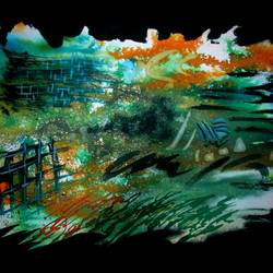 diganta rekha, 21 x 14 inch, tamal sen sharma,21x14inch,cartridge paper,paintings,abstract paintings,paintings for dining room,paintings for living room,paintings for bedroom,paintings for office,paintings for bathroom,paintings for kids room,paintings for hotel,paintings for kitchen,paintings for school,paintings for hospital,mixed media,GAL01201324212