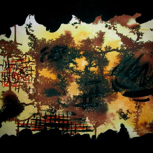 dry forest, 21 x 14 inch, tamal sen sharma,21x14inch,cartridge paper,paintings,abstract paintings,modern art paintings,paintings for dining room,paintings for living room,paintings for bedroom,paintings for office,paintings for bathroom,paintings for kids room,paintings for hotel,paintings for kitchen,paintings for school,paintings for hospital,abstract drawings,mixed media,GAL01201324236