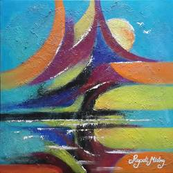 abstract tree, 20 x 20 inch, rupali mistry,20x20inch,canvas,paintings,abstract paintings,paintings for dining room,paintings for living room,paintings for bedroom,paintings for office,paintings for hotel,paintings for kitchen,paintings for school,paintings for hospital,acrylic color,GAL01340224239
