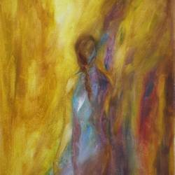 feel the moment, 10 x 22 inch, deepa kern,10x22inch,canvas,paintings,figurative paintings,conceptual paintings,expressionism paintings,impressionist paintings,contemporary paintings,paintings for dining room,paintings for living room,paintings for bedroom,oil color,GAL01315324266