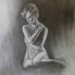 emotion, 12 x 17 inch, arpana d,fine art drawings,paintings for living room,paper,charcoal,12x17inch,GAL09642429