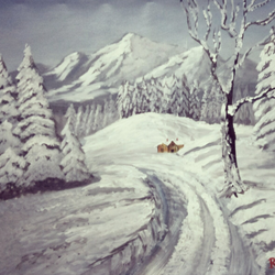 snowfall, 20 x 28 inch, rajendra  gupta,20x28inch,canvas,paintings,landscape paintings,nature paintings,paintings for dining room,paintings for living room,paintings for office,paintings for kids room,paintings for hotel,paintings for school,paintings for hospital,acrylic color,GAL01284624299