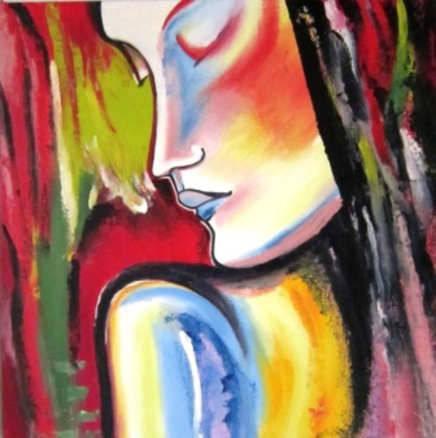 girl, 20 x 20 inch, aparna warade,abstract paintings,paintings for living room,canvas,oil paint,20x20inch,GAL089243