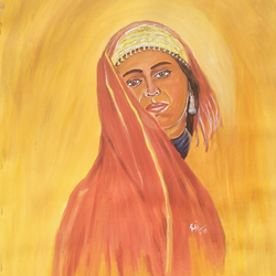 afghani girl, 20 x 28 inch, rajendra  gupta,20x28inch,canvas,paintings,portrait paintings,paintings for dining room,paintings for living room,paintings for hotel,acrylic color,GAL01284624307