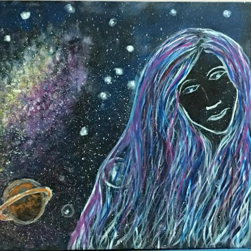 moon-face, 36 x 24 inch, jyoti arya,36x24inch,canvas,abstract paintings,paintings for living room,paintings for living room,acrylic color,GAL01380324335