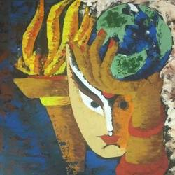 women power, 20 x 24 inch, manita kumari,20x24inch,canvas,paintings,abstract paintings,conceptual paintings,paintings for dining room,paintings for living room,paintings for office,paintings for hotel,paintings for school,paintings for hospital,acrylic color,GAL0386824372