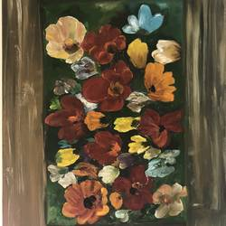 wild bunch of flowers , 36 x 48 inch, rajavi uday sawant,36x48inch,canvas,paintings,flower paintings,paintings for dining room,paintings for living room,paintings for bedroom,paintings for office,paintings for hotel,paintings for school,paintings for hospital,oil color,GAL0214824376