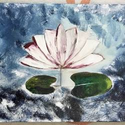 lotus for harmony , 12 x 24 inch, rajavi uday sawant,12x24inch,canvas,paintings,buddha paintings,flower paintings,nature paintings,paintings for dining room,paintings for living room,paintings for bedroom,paintings for office,paintings for kids room,paintings for hotel,paintings for school,paintings for hospital,oil color,GAL0214824377