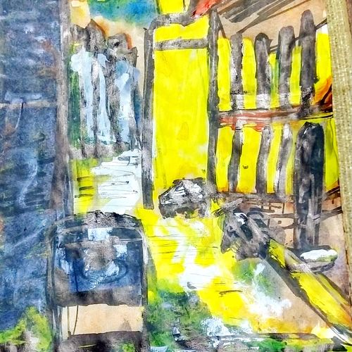 the bylanes , 8 x 12 inch, jyoti arya,8x12inch,paper,paintings,landscape paintings,acrylic color,GAL01380324392